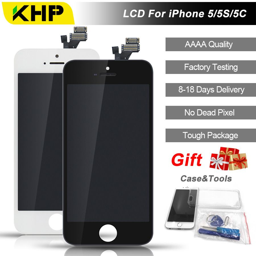 2018 100% Original KHP AAAA Screen LCD For iPhone 5S 5 5C Screen LCD Replacement Screen IPS Display Touch Quality 5S 5C 5 LCDS