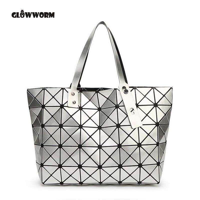 2017 Fashion Bao Bao Bag Women Tote Fold summer issey miyak Baobao Hand Bag Laser Geometric Designer Handbags High Quality TN141