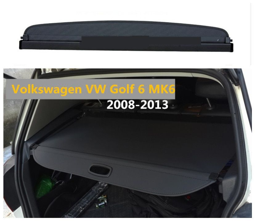 For Volkswagen VW Golf 6 MK6 2008-2013 Rear Trunk Cargo Cover Security Shield Screen shade High Qualit Car Accessories