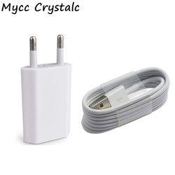 Haute Qualité Standard de L'UE Voyage Accueil AC Mur Chargeur Adaptateur 8 broches Data chargeur Câble Pour iPhone 7 6 6 s 6 S Plus 5 5S SE iOS10