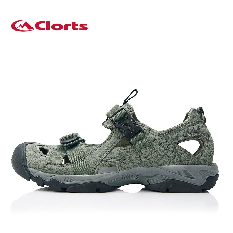 CLORTS Men Summer Beach Sandals Water Sports Shoes Outdoor Aqua Shoes Quick Drying Sandals Cushion Water River Trekking Shoes