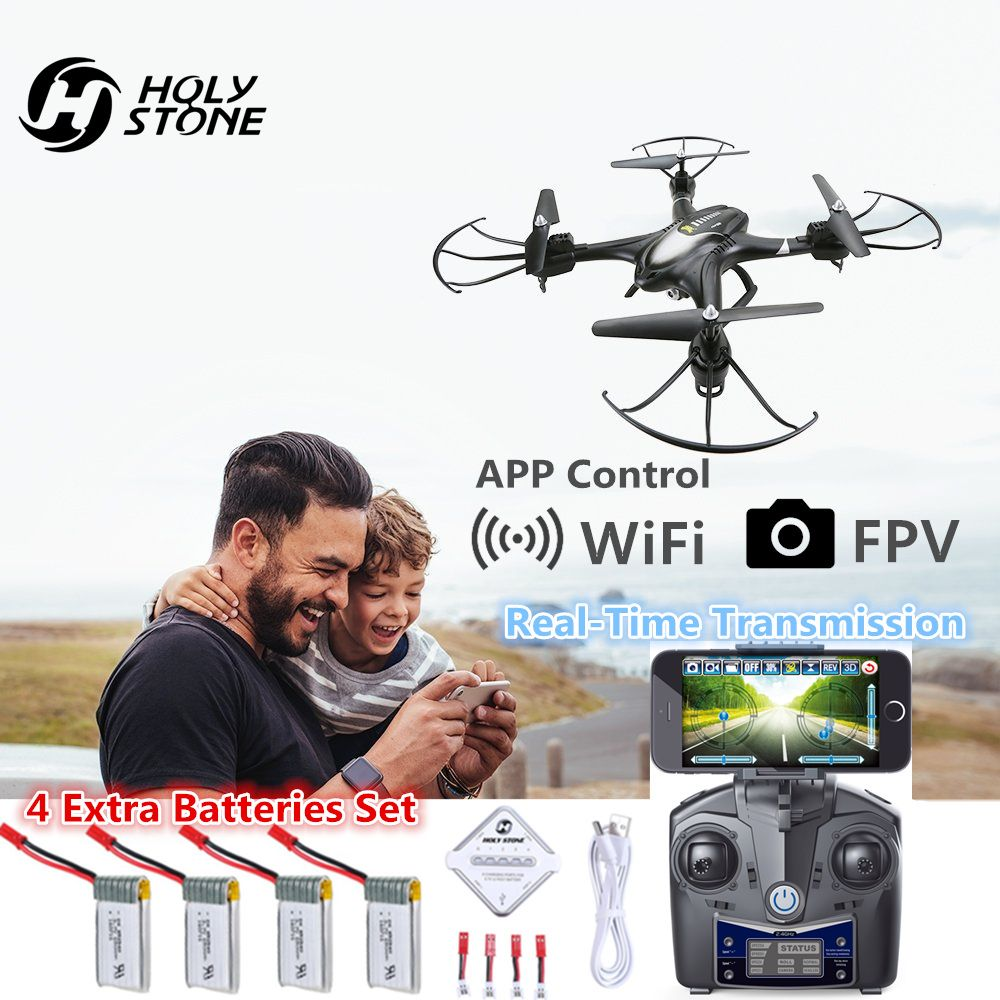 Holy Stone HS200 Drone with Camera HD Wifi FPV Video RC Helicopter 6-Axis Gyro Quadcopter APP Gravity Sensor Headless Mode Toy