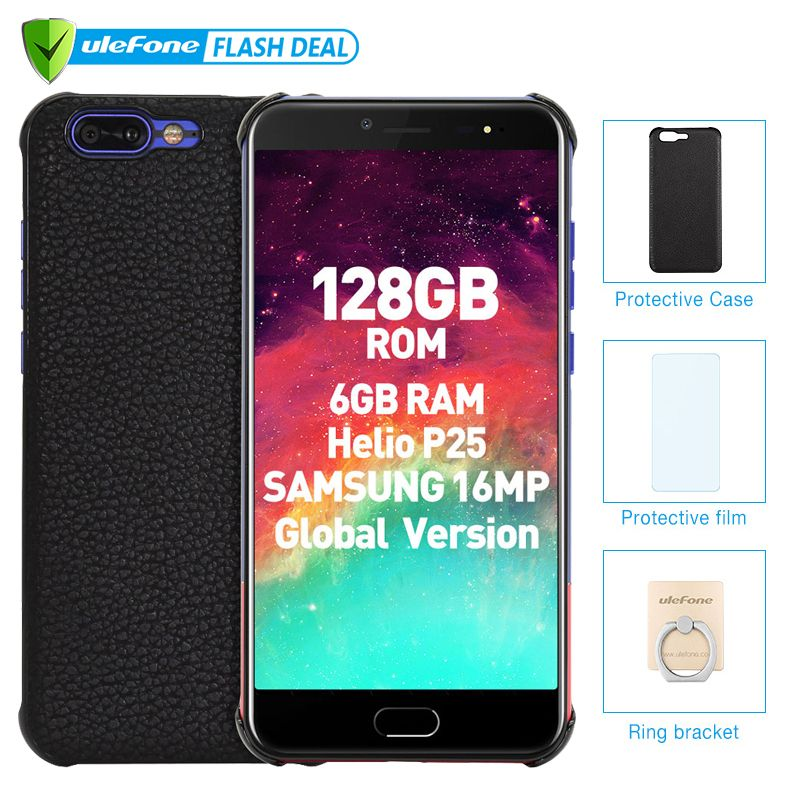 Ulefone T1 Premium Edition 6 GB + 128 GB 5,5 FHD Helio P25 Octa Core Handy Fingerprint 4G Globale version