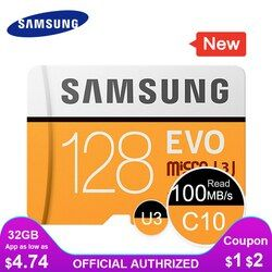 Samsung Kartu Memori Micro SD 32G 64G 128G 256 Kartu MicroSD SDHC SDXC Max 95 Ms EVO 32 GB 64 GB C10 TF Trans Flash Kartu Micro
