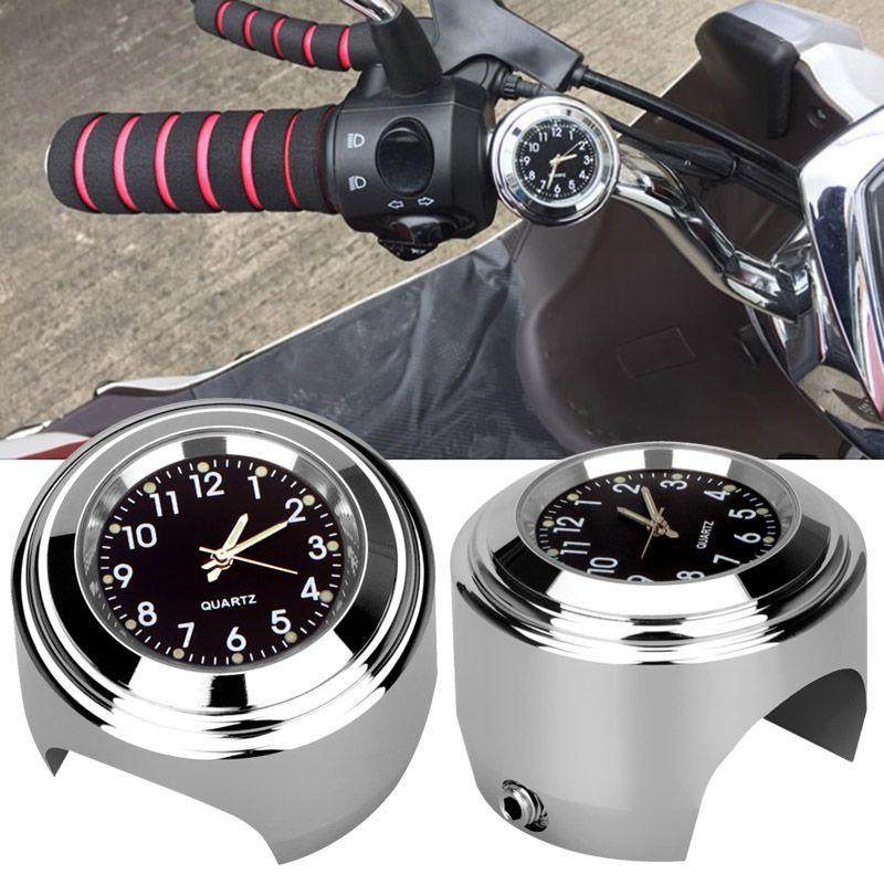 Motorcycle Handlebar Mount Quartz Clock Waterproof 7/8