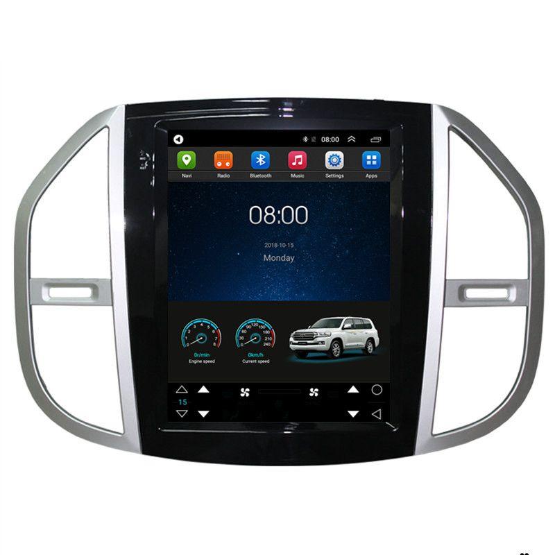 12,1 Tesla Vertikale Bildschirm Android Car Multimedia Stereo DVD GPS Navigation für Mercedes Benz Vito Metris 2015 2016 2017 2018