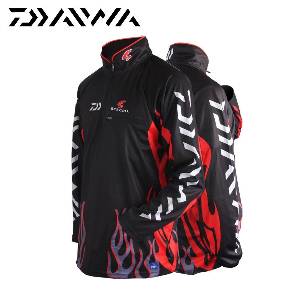 Daiwa Fishing Apparel Vests Fast Drying M L XL XXL XXXL Anti-Uv Sun Fishing Shirt Sportswear Long Sleeve Camisas Pesca