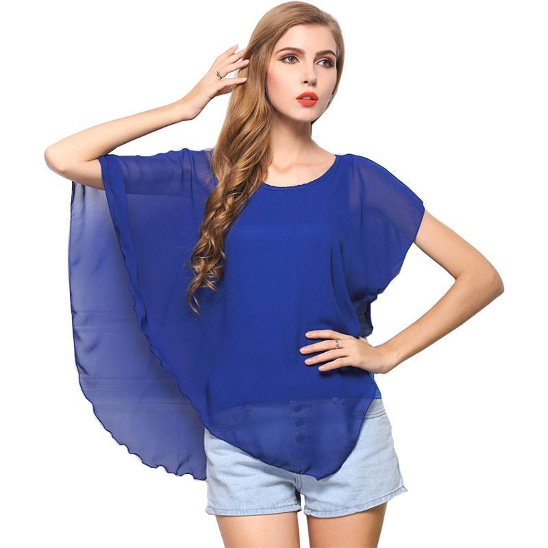 Blusas Women's 2018 Fake Two-Piece Jersey Top Custom Color Irregular Ruffle Chiffon Sleeveless Top vestidos HT1