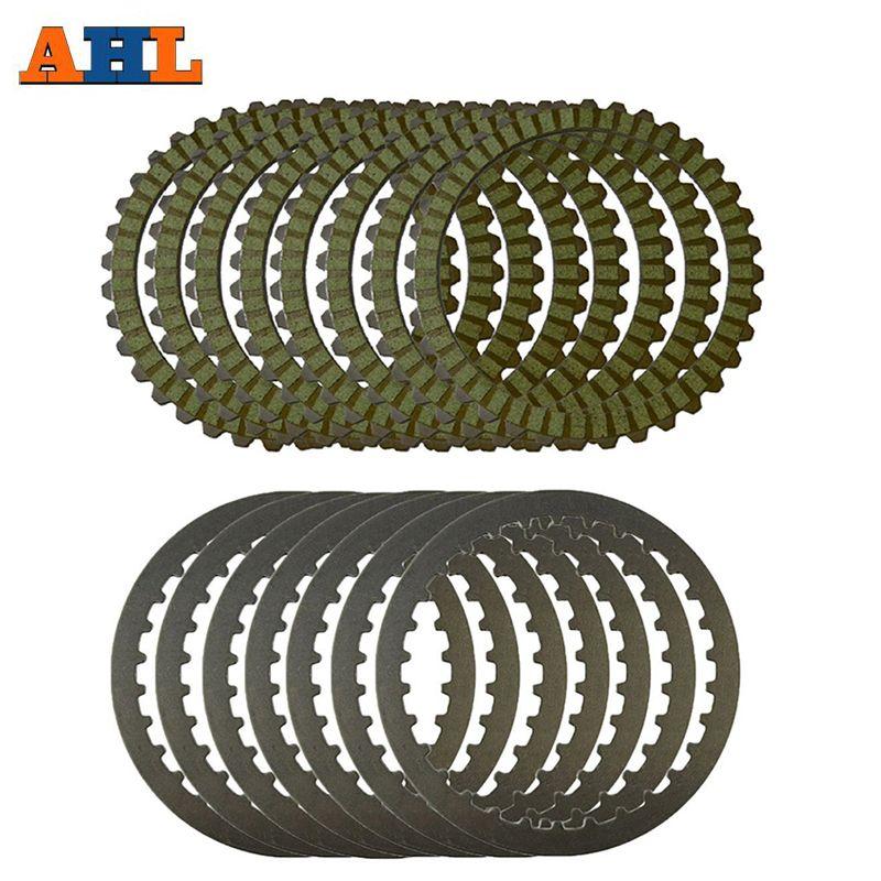 AHL Kupplung Platten & Stahl Platten Reibung Discs Grün Für Harley XL883 2004-2008 XL1200 SPORTSTER 1991-2011 XL1200X 2010-2015