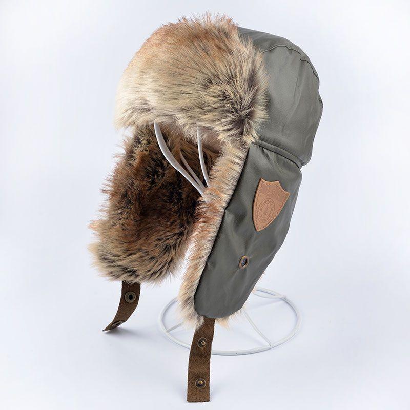 2016 winter pilot hat gorro aviador ruso children with ear flaps leather bomber hats trapper cap Kids Warm The boy Earmuffs cap