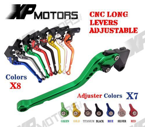 CNC Long Adjustable Brake Clutch Lever For Kawasaki ZX1400 ZX14R ZZR1400 2006-2015 GTR1400 Concours 2007-2015