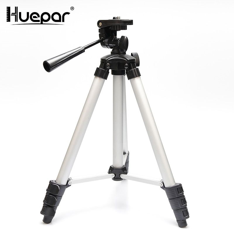 Huepar Adjustable Laser Level Tripod Rod Leveling Bubble 1/4 Inch Travel Camera Tripod with Extension Height Line Level Tools