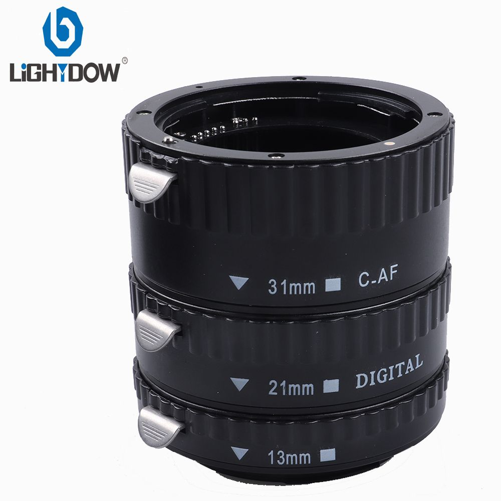 Adaptateur d'objectif de caméra Auto Focus AF Tube d'extension Macro/anneau de montage pour Canon 1000D 550D 760D 6D 7D 77D 5dII appareils photo reflex numériques