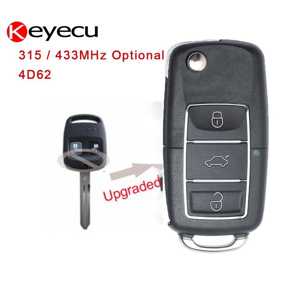 Keyecu Updated 2 Button Flip Remote Car Key Fob 315/433MHz Optional 4D62 for Subaru Impreza Forester Liberty