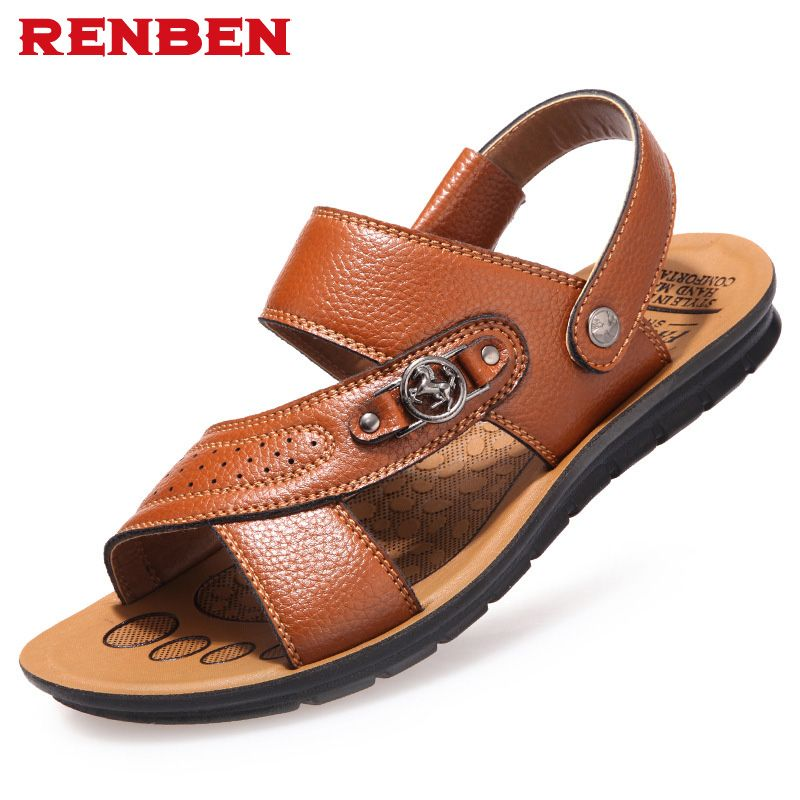 Men flip flops 2017 new fashion sandals men shoes sandalias <font><b>hombre</b></font> men shoes sandals