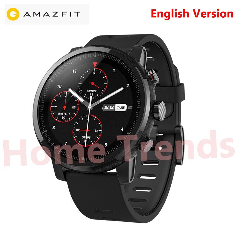 Original Xiaomi Huami Amazfit 2 SmartWatch 2 English Version GPS PPG Heart Rate 5ATM Waterproof Sports Smart watch Bluetooth