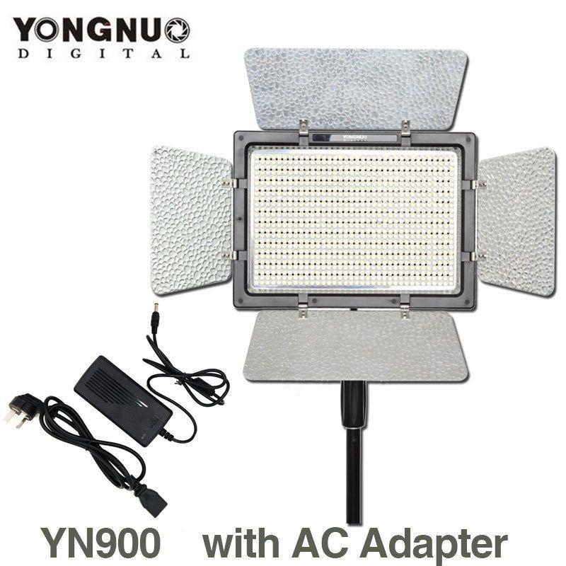 YONGNUO YN900 with AC Power Adapter,YN-900 High CRI 95 3200K-5500K LED Beans Video Studio Light Panel