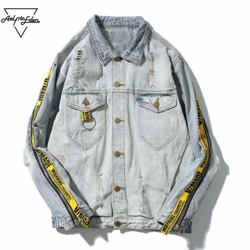 Aelfric Eden Winter Pilot Mens Denim Jacket Casual Fashion Men Bomber Baseball Jackets Men's Jean Jacket Chaqueta Hombre PA101