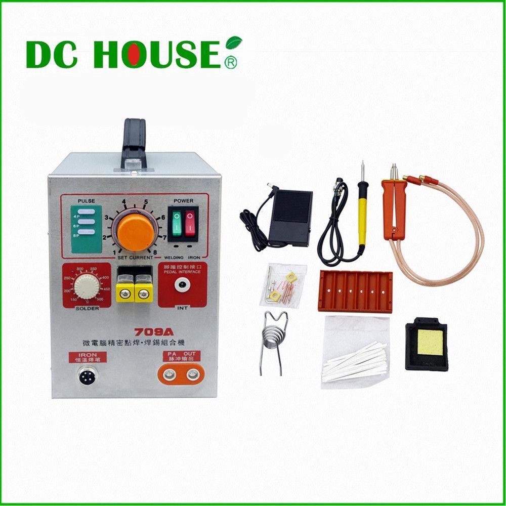 220V 709A Pulse Battery Spot Welder Welding Machine for 18650 16430 14500 Batteries Spot Welding