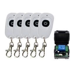 315 мГц/433 мГц DC12V 1CH RF Беспроводной удаленного Управление переключатель открывания двери 5 передатчиков с приемником для двери Управление сис...