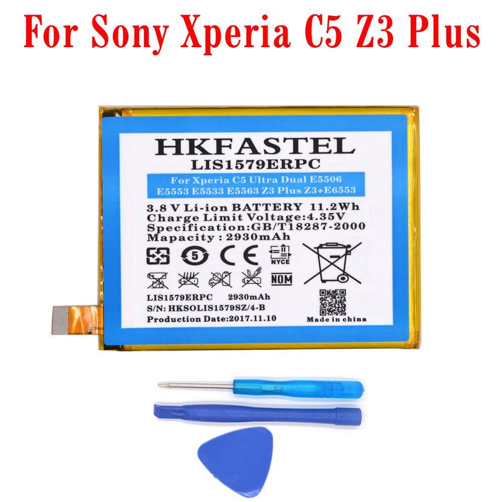 HKFASTEL New LIS1579ERPC mobile phone battery For Sony Xperia C5 Ultra Dual E5506 E5553 E5533 E5563 Z3 Plus Z3+ E6553 Z4 E6533
