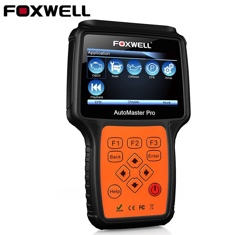 <font><b>FOXWELL</b></font> NT624 PRO Full System OBD2 Auto Diagnostic Tool Car ABS Airbag SRS SAS EPB Crash Data Oil Reset OBD 2 Automotive Scanner