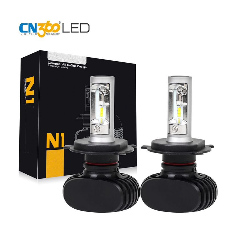CN360 2PCS <font><b>4000LM</b></font> 2017 New Arrival H4 HB2 9003 H7 H11 9005 9006 Car LED Head Lamp Headlight Conversion Kit Auto Bulb DC 12V