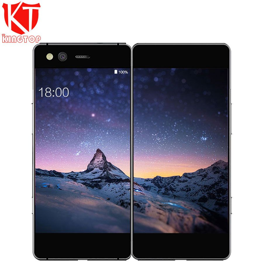 Neue ZTE Axon M Klapp Bildschirm Dual Screen 5,2 zoll Handy Snapdragon 821 Quad core Android 7.0 20MP Fingerprint handy