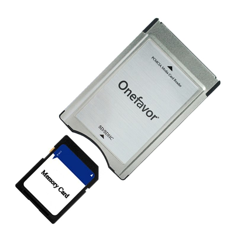 2019 New Year Wholesale Quality SD Card Adapter Onefavor PCMCIA Card Reader For Mercedes Benz MP3 Memory Card Adapter Promotion