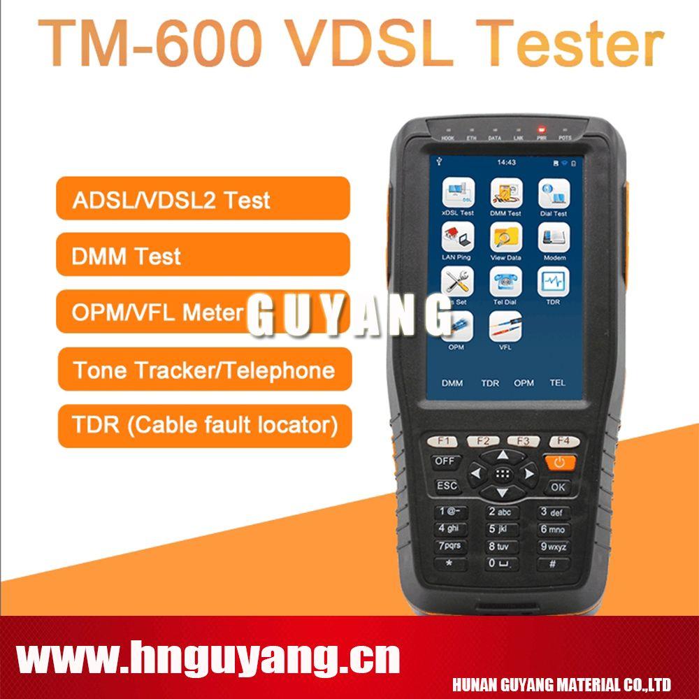 GUYANG TM-600 VDSL VDSL2 Tester ADSL WAN & LAN Tester xDSL Line Test Equipment TM600