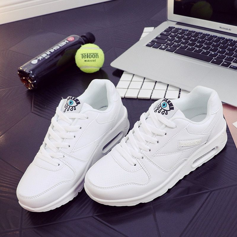 Korean Female Student Shoes Woman Comfortable Leather Sports Shoes All Match Flat Walking Shoes Travel Ventilation Women Shoe