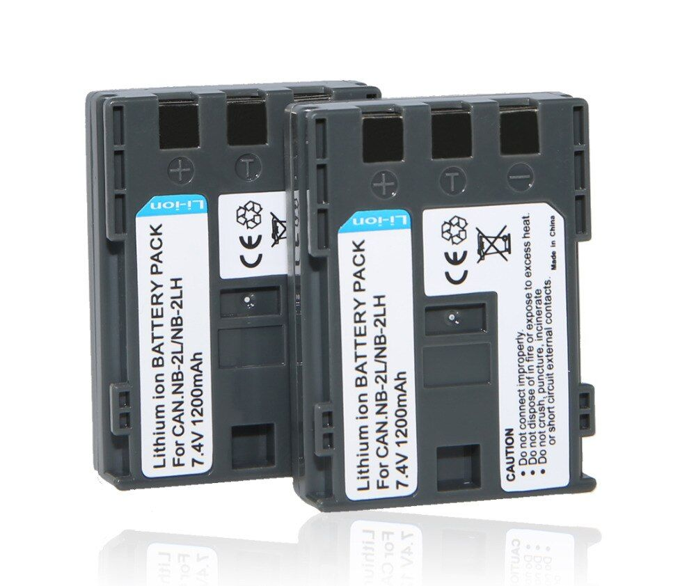 2 Pcs/lot NB-2L NB-2LH BP-2L5 NB2L E160814 Batterie pour Canon PowerShot S30 S50 S55 S60 S70 G7 G9 DC310 DC320 DC330 S40 z1