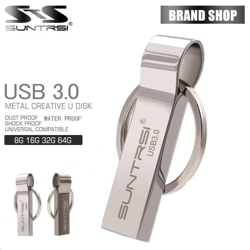 Suntrsi Waterproof usb 3.0 Flash Drive 8G 16G Pen Drive 32G 64G Memory Storage USB Stick Pendrive key ring usb flash drive