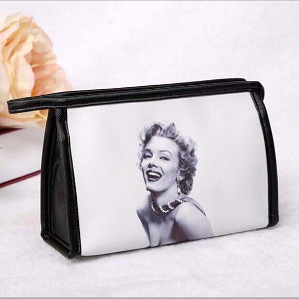 Nouveau 2016 femmes mode Messenger sacs femmes en cuir sacs à main Marilyn Monroe imprimé sacs à cosmétiques et étuis trois Type sac de maquillage