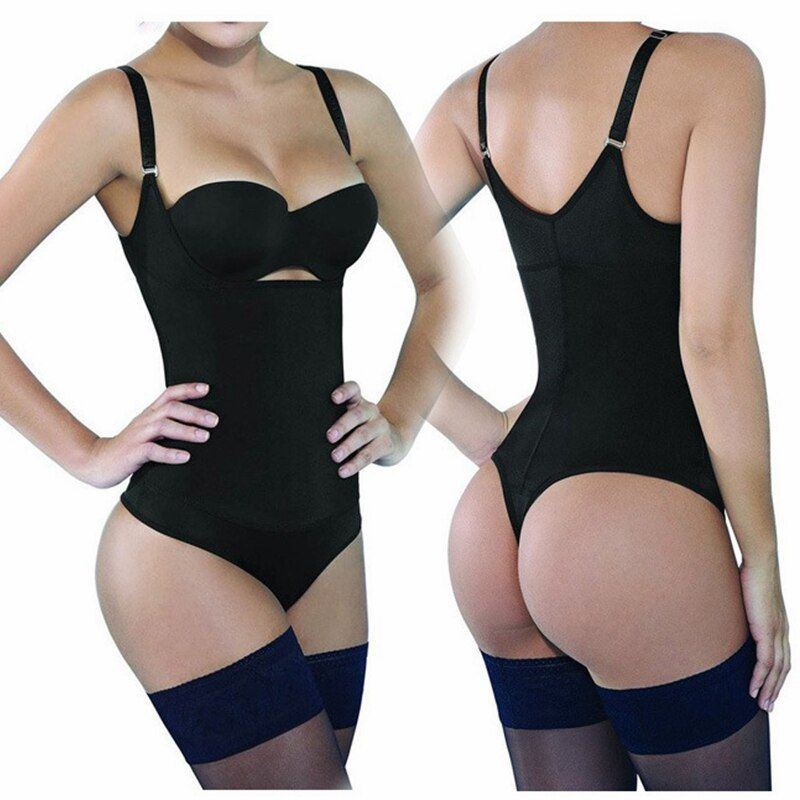 3XL Latex Shaper Bodysuit Women Postpartum Firm Control Thongs Full Body Briefer Shapewear Model Stap Waist Trainers G-string