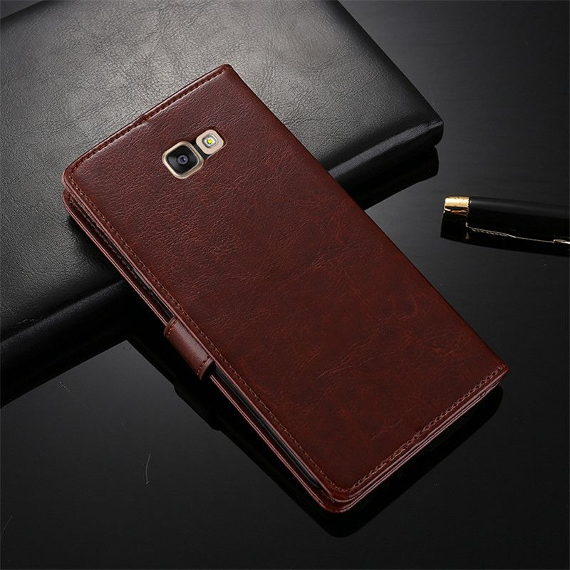 HUIFEN Wallet Case for Samsung Galaxy A7 2017 case PU Leather Card Holder Phone Bag Flip Cover conque for A720 2017 case (Z316)