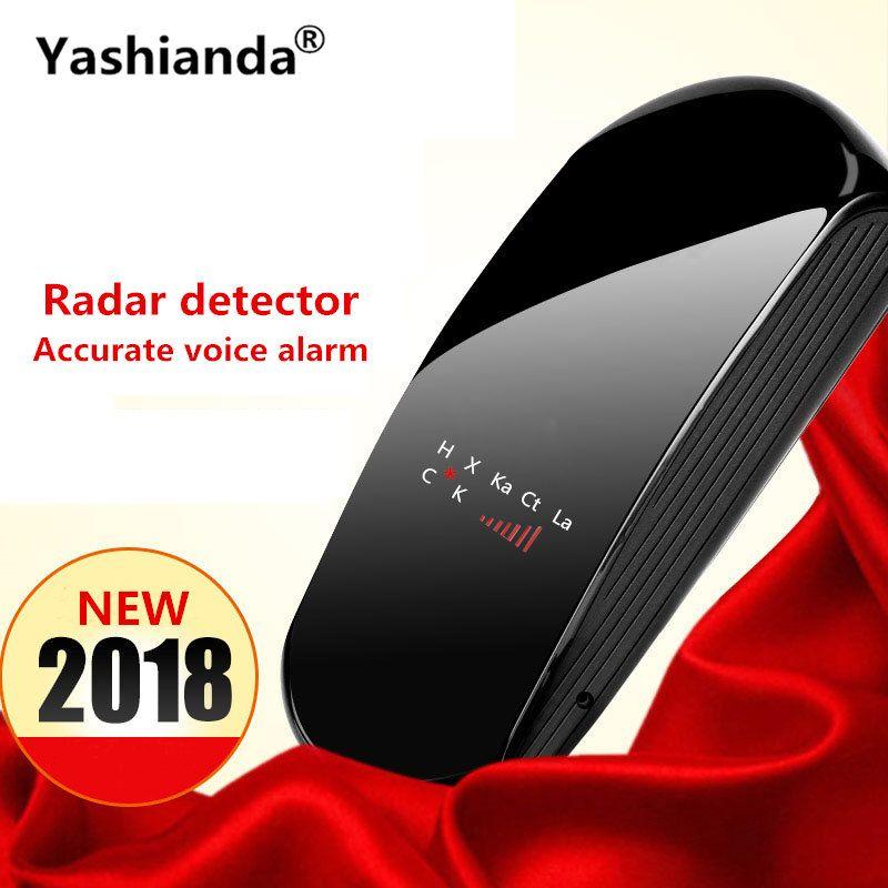 Yashianda Universal V3 Vehicle Auto Car <font><b>Radar</b></font> Detector LED Display Laser Anti <font><b>Radar</b></font> Speed Detector Support Russian English
