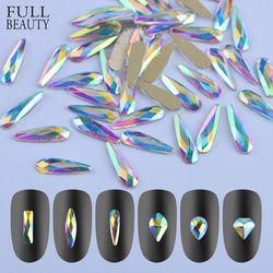 Penuh Kecantikan 10 Buah Mengkilap 3D Paku Seni Berlian Imitasi AB Warna-warni Kuda Mata/Waterdrop/Sepak Bola/Berlian DIY Dekorasi Hiasan CH532