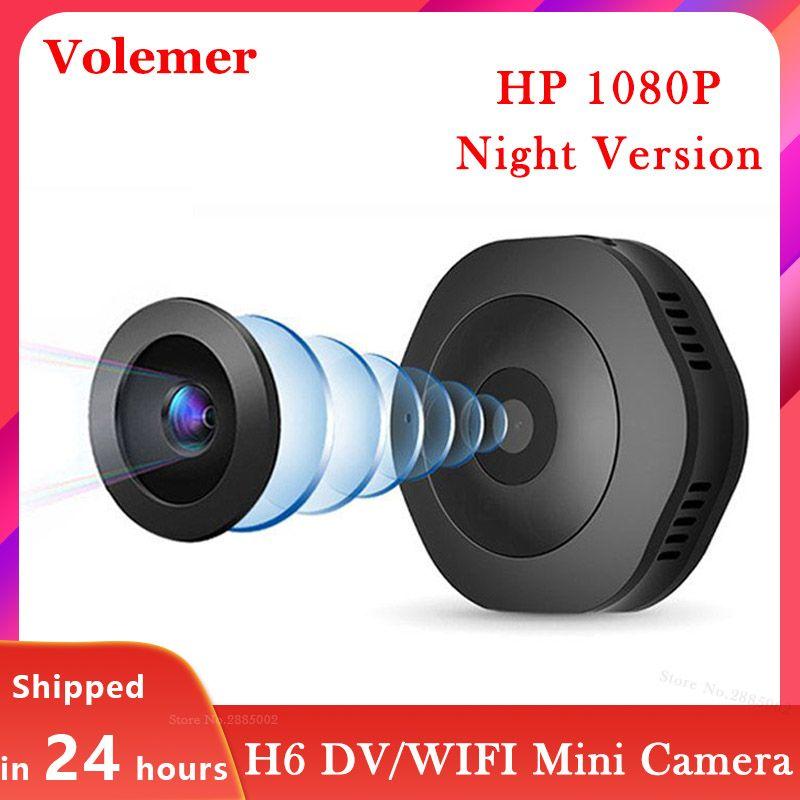 Volemer H6 Wifi Micro caméra Version nocturne Mini caméra d'action capteur de mouvement caméscope enregistreur vidéo vocal DV DVR petite caméra