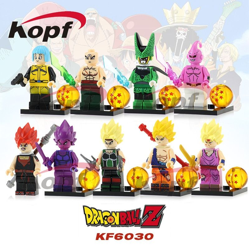 Dragon Ball Z Figures Goku Vegeta Perfect Cell Majin Buu Tien Shin Han Bulma Bardock Building Blocks Toys for children KF6030