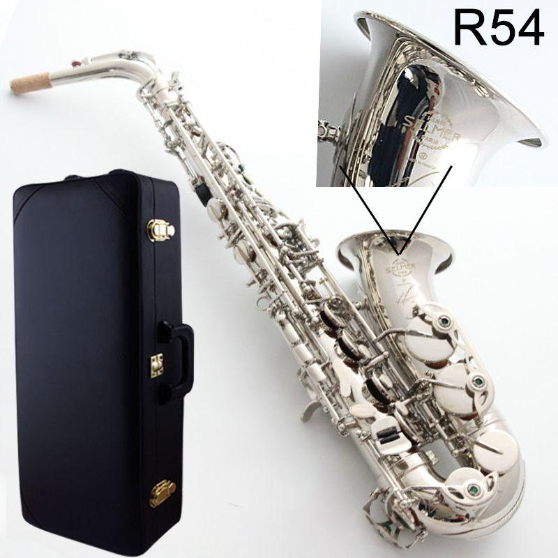 New Alto Saxophone France Selme SAS R54 Eb Flat Saxofone Nickel silver Brass Sax Professional musical instrument Case,Mouthpiece