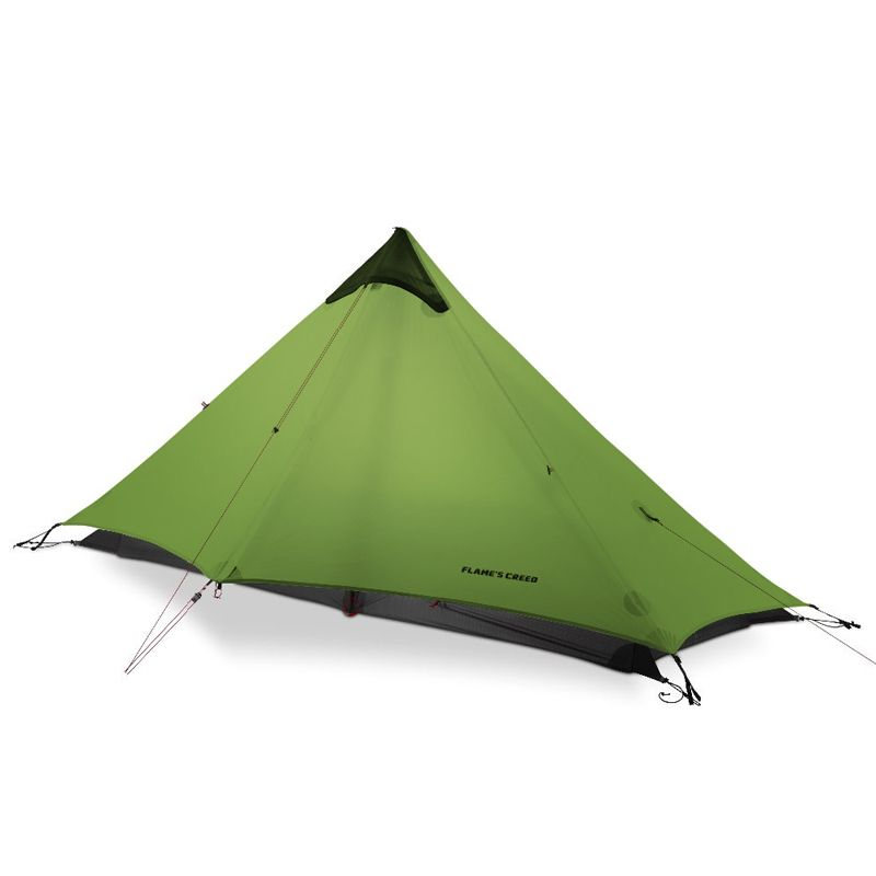 2018 LanShan 1 FLAME'S CREED 1 Person Oudoor Ultralight Camping Tent 3 Season Professional 15D Silnylon Rodless Tent