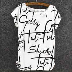 CEODOGG 2017 Nouveau Mode D'été Marque Femmes Lettres Imprimer t-shirt à manches courtes casual coton tops t-shirt t-shirt femmes vêtements