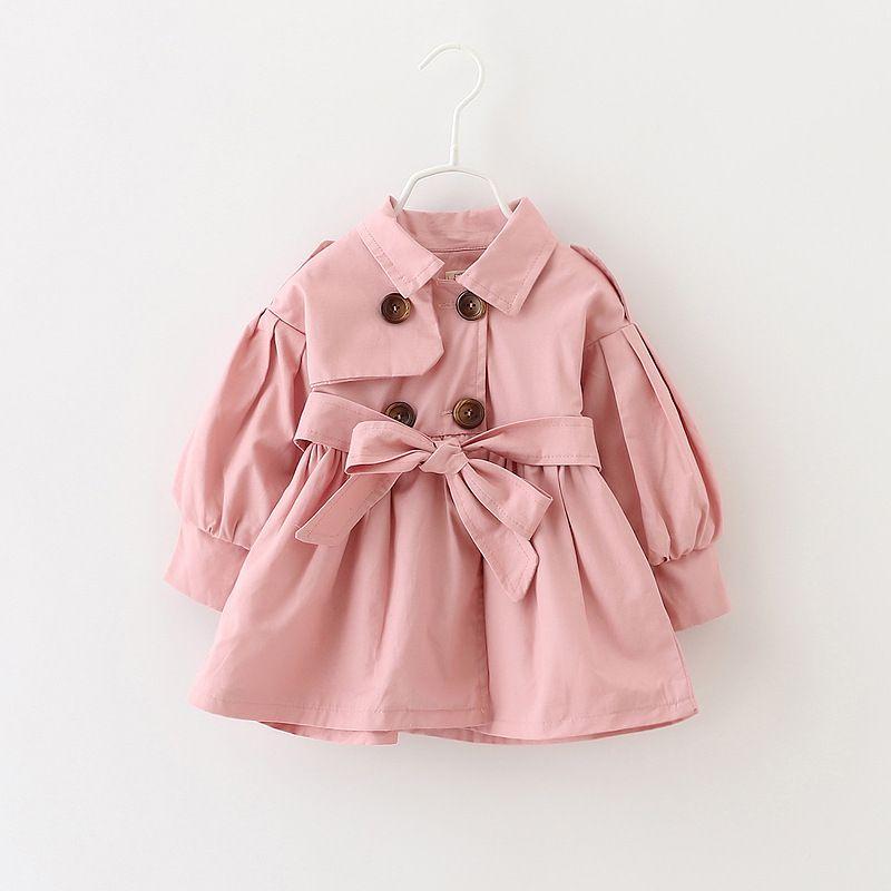 Новый Демисезонный Пальто для маленьких девочек Двубортный кардиган для девочек; Детское пальто с кружевом детские пальто От 0 до 7 лет
