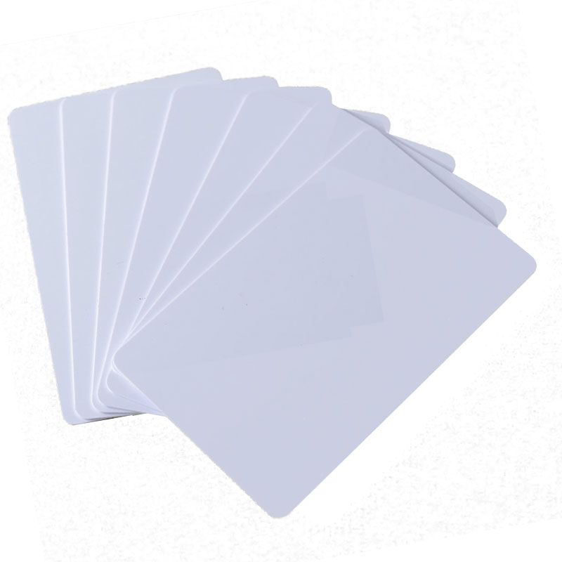 10pcs/Lot RFID Card 13.56Mhz MF S50 Proximity IC Smart Card  Tag 0.8mm Thin For Access Control System ISO14443A
