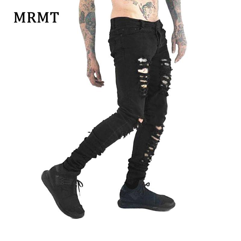 Черный пузырь клуб хаос черные джинсы узкие ноги High Street в стиле панк-рок микро эластичная ткань cultivate One's morality хардкор туман