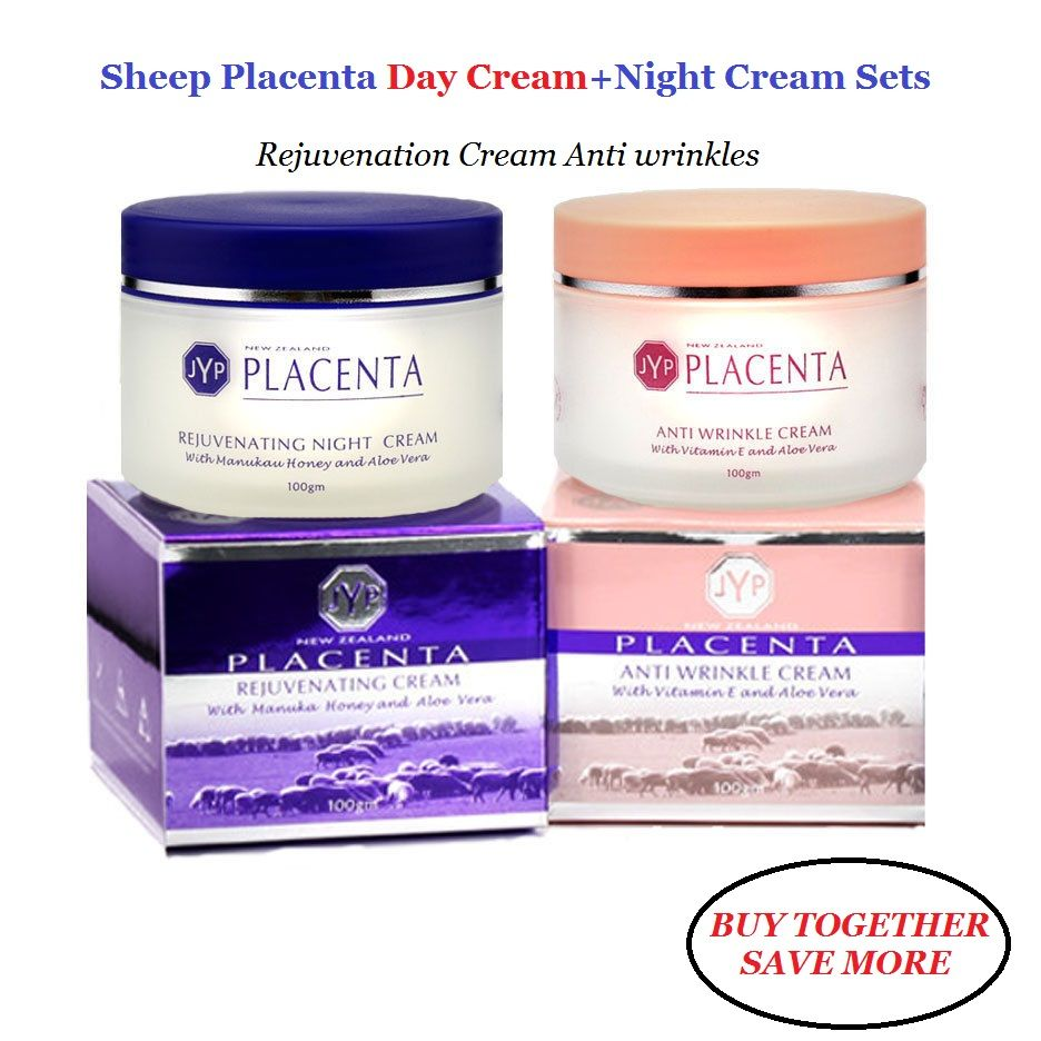 100% NewZealand Sheep Placenta Anti Wrinkle Day Cream+Night Face Cream Sets Reduce Face wrinkles Manuka Honey Rejuvenation Cream