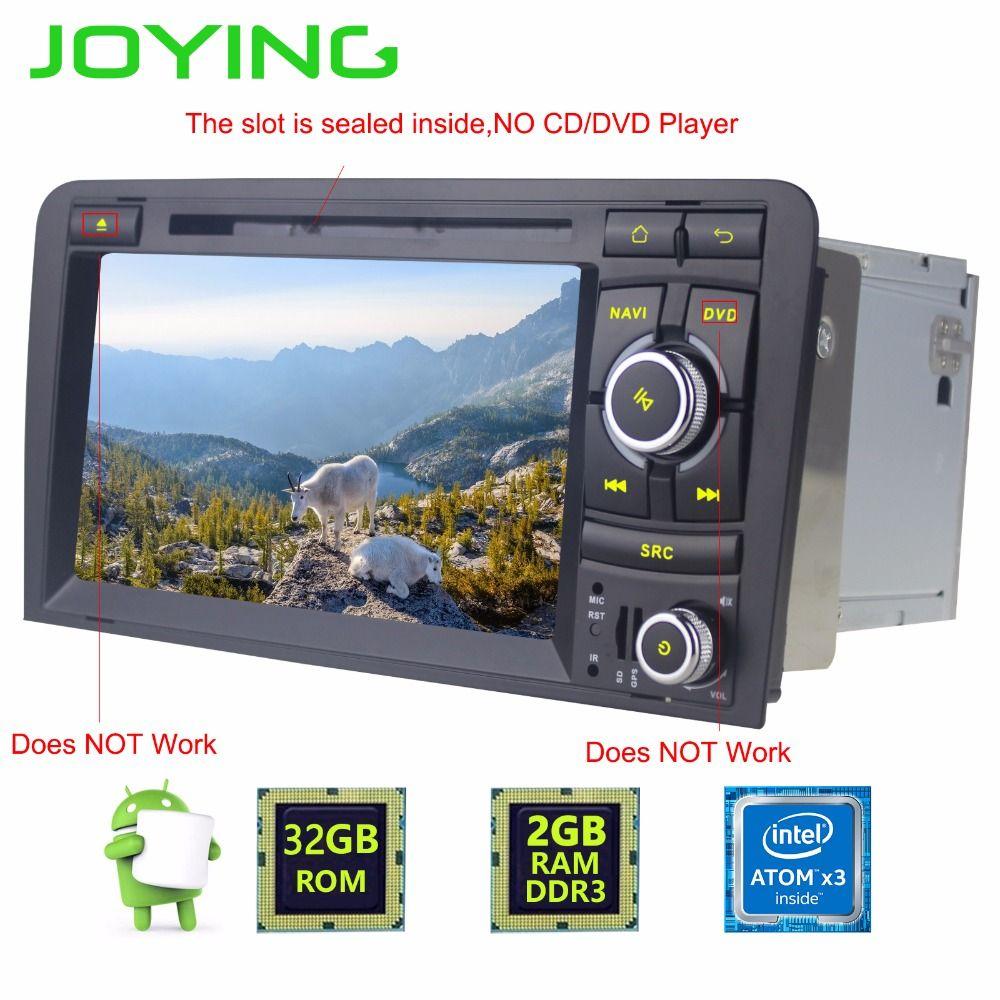 Joying 2din Android 7 zoll Audi A3 (2003-2013)/S3 (2003-2011) Autoradio Kopfeinheit Quad Core 3G/4G/WiFi hotspot Bluetooth audio