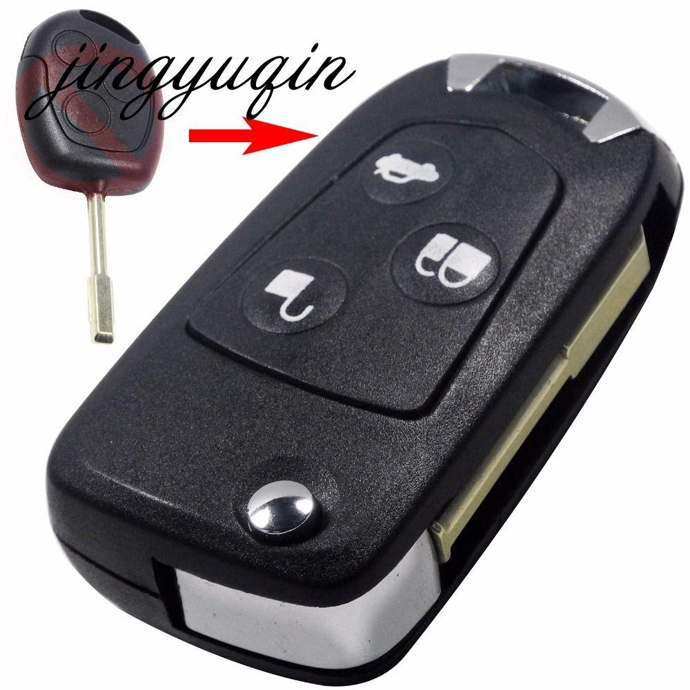Jingyuqin 3 Tasten Uncut Refit Fern Folding Flip Key Shell Für Ford Focus KA Mondeo Fob Fall