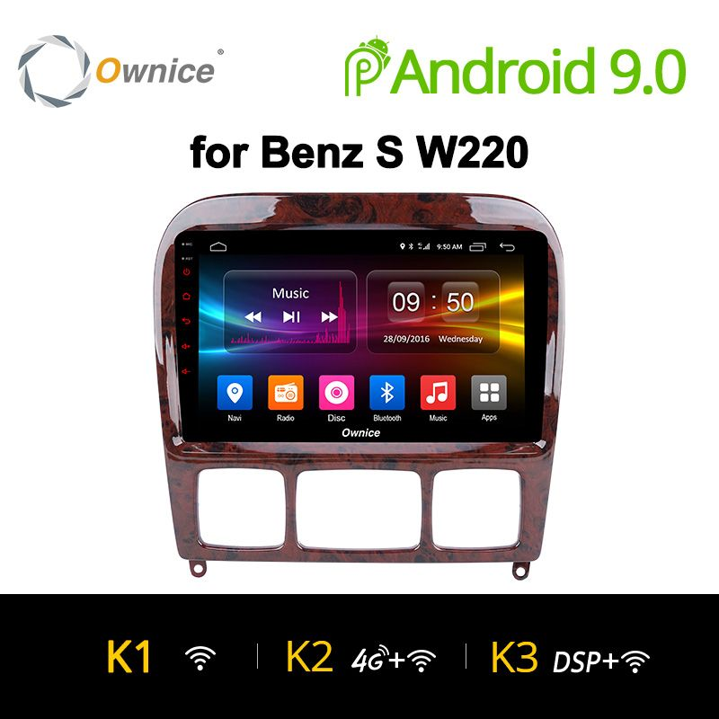 Ownice K1 K2 K3 Android 9.0 für Mercedes/Benz/S280/S320/S350/S400/S500/ w220/W215/C S Klasse 2din Auto DVD Player Radio GPS stereo